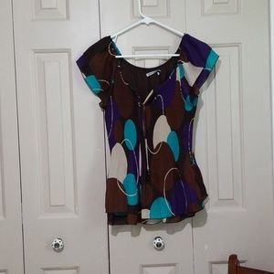Signature by Larry Levine layered blouse